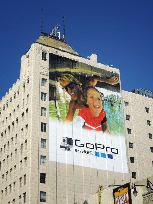 Giant GoPro father and child billboard