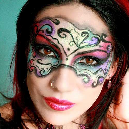 maquillaje mascara carnaval