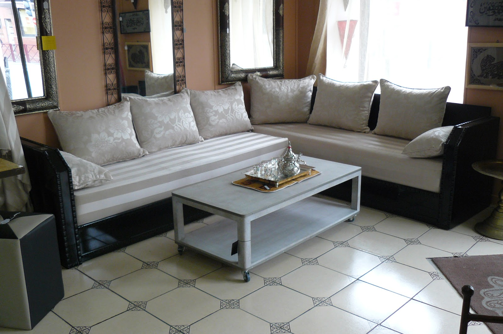 Salon marocain moderne prix - Photo de salon marocain moderne ...