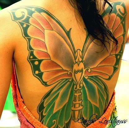 Back Butterfly Tattoos