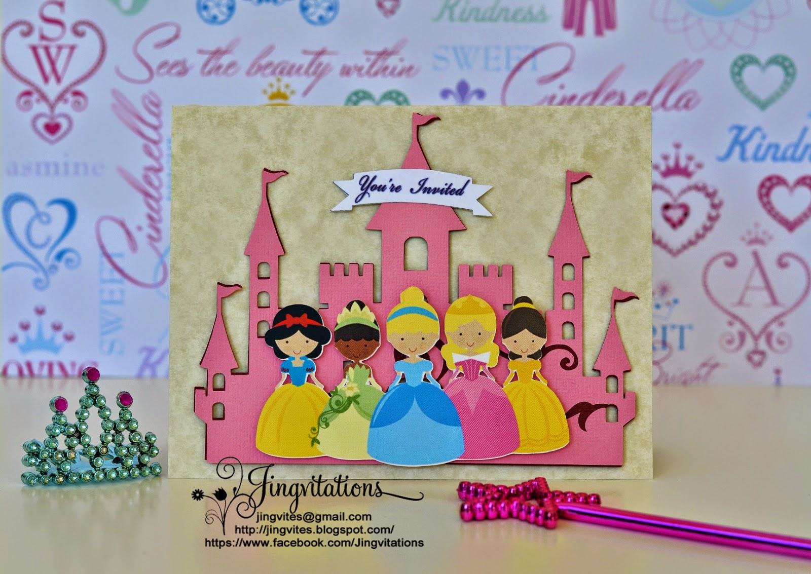 Birthday and Baby Shower Invitations: Handmade Princess Birthday or ...