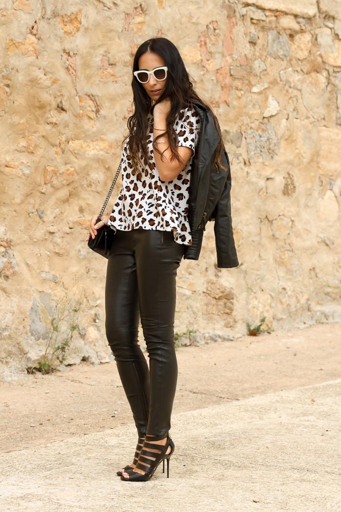 EStilo rock femenino chic con prendas de cuero