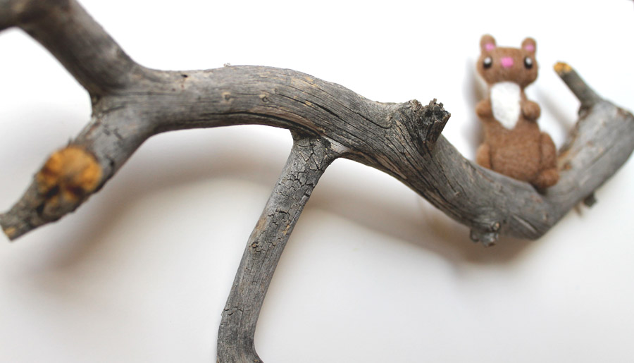 Here Are My Newest Felted Animals On Tree Branches These Make Interesting And Great Wall Decor I Have More Available In Etsy