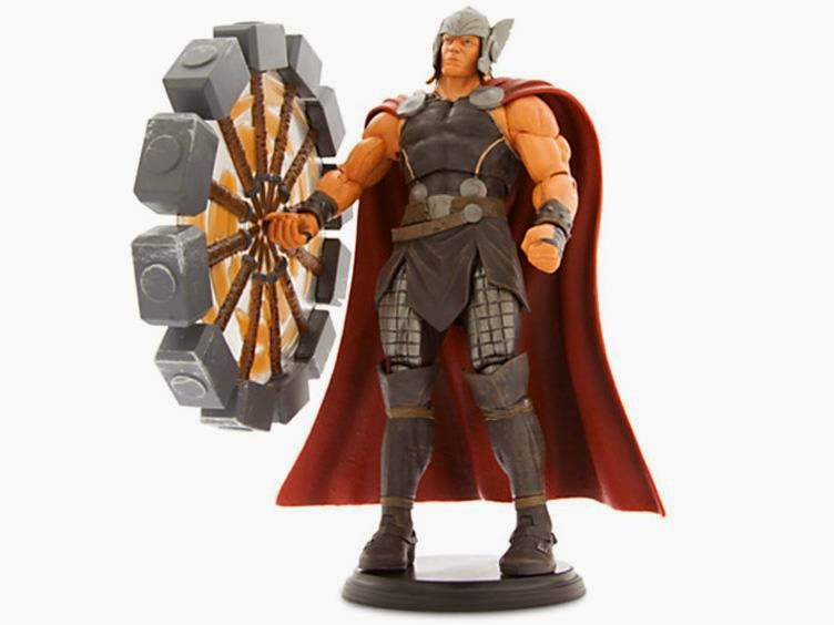 super punch marvel select thor with spinning hammer available for