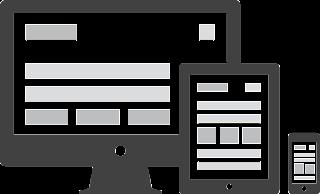 Diferentes dispositivos exibindo o mesmo conteúdo, ilustrando um design responsivo