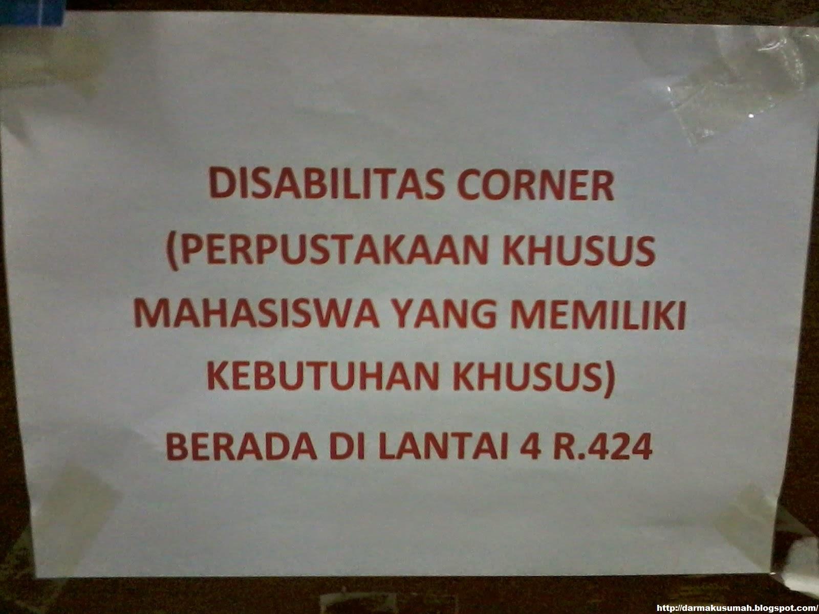 Pengumuman Disabilitas Corner