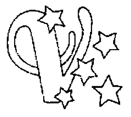 Desenhos Para Colori letras do alfabeto letra V desenhar