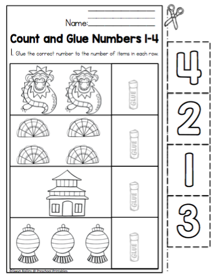 math worksheet : chinese new year worksheets *no prep*  preschool printables : Chinese New Year Worksheets For Kindergarten