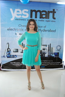 Actress Krithi Karbanda Pictures in Short Dress at Yes Mart Show Room Launch  0004