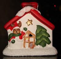 подсвечник своими руками - домик для свечи