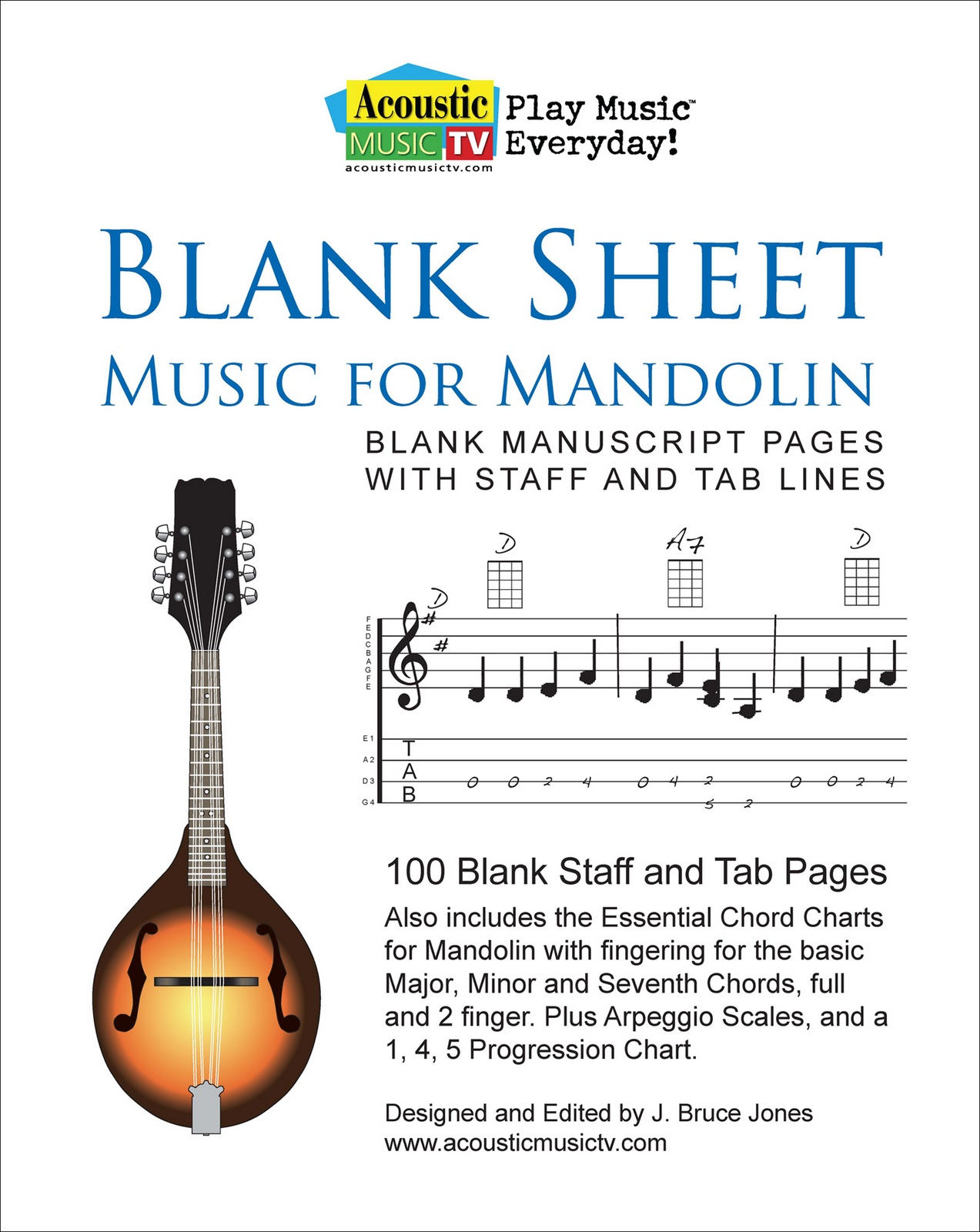 Acoustic music tv blank sheet music mandolin blank sheet music for mandolin blank manuscript pages with staff and tab lines hexwebz Images
