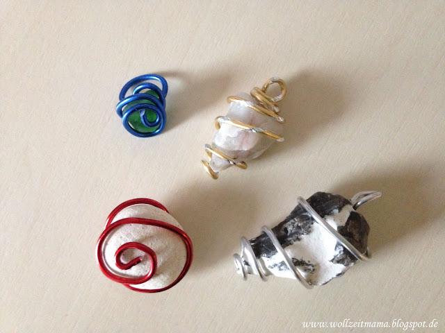 DIY Schmuck basteln aus Steinen - Ketten und Ringe aus Strandgut