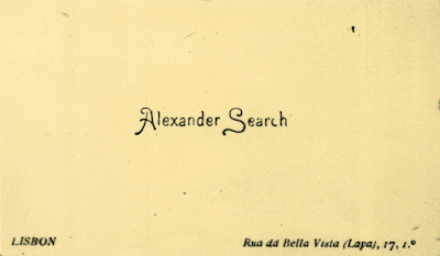 Alexander Search. LISBON. Rua da Bella Vista (Lapa), 17, 1.º