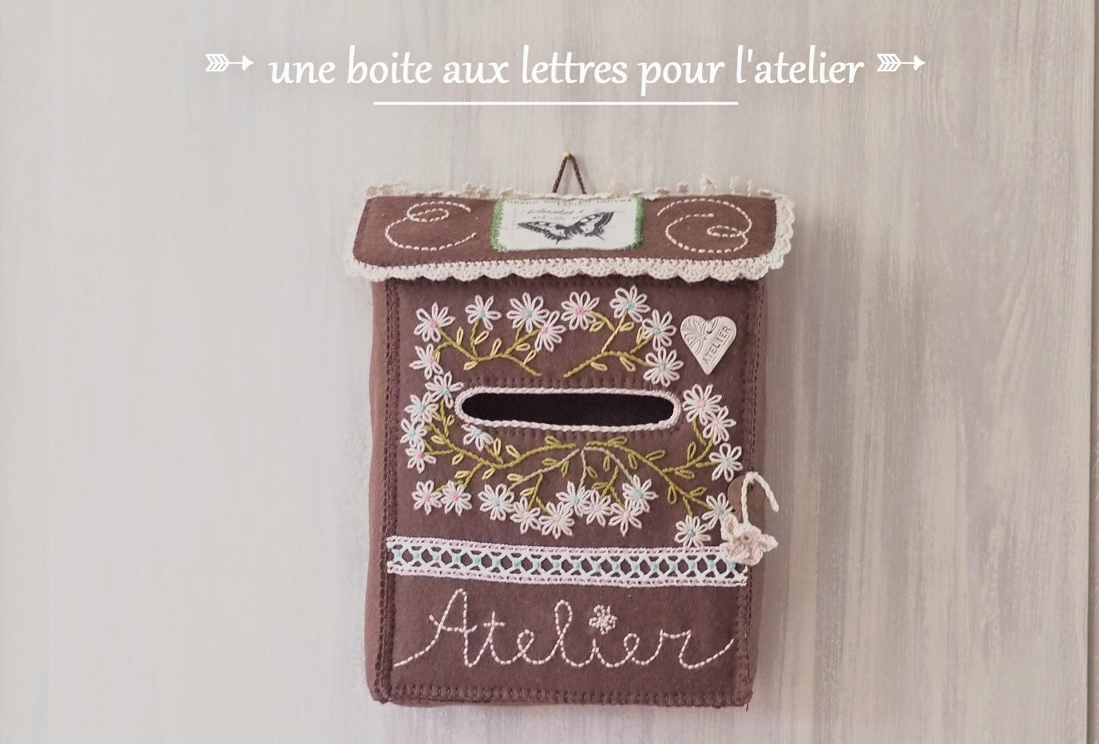 Boite aux lettres en feutrine un atelier au fond des bois - Decoration boite aux lettres ...