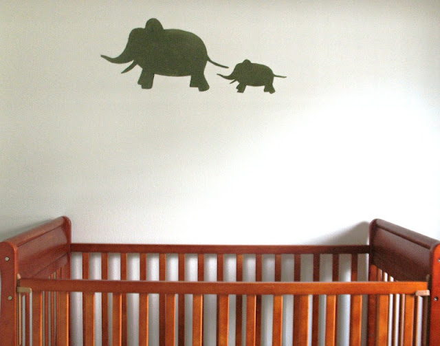 elephant starched fabric wall decals