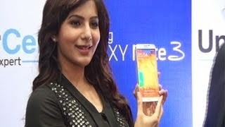 Samantha launches Samsung Galaxy Note III | Samantha Ruth Prabhu