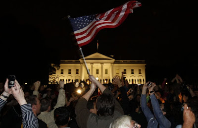 The icon of evil is dead! Jubilant crowds celebrate outside the White House