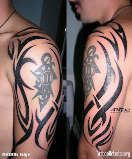 Tribal Shoulder Tattoos Idea