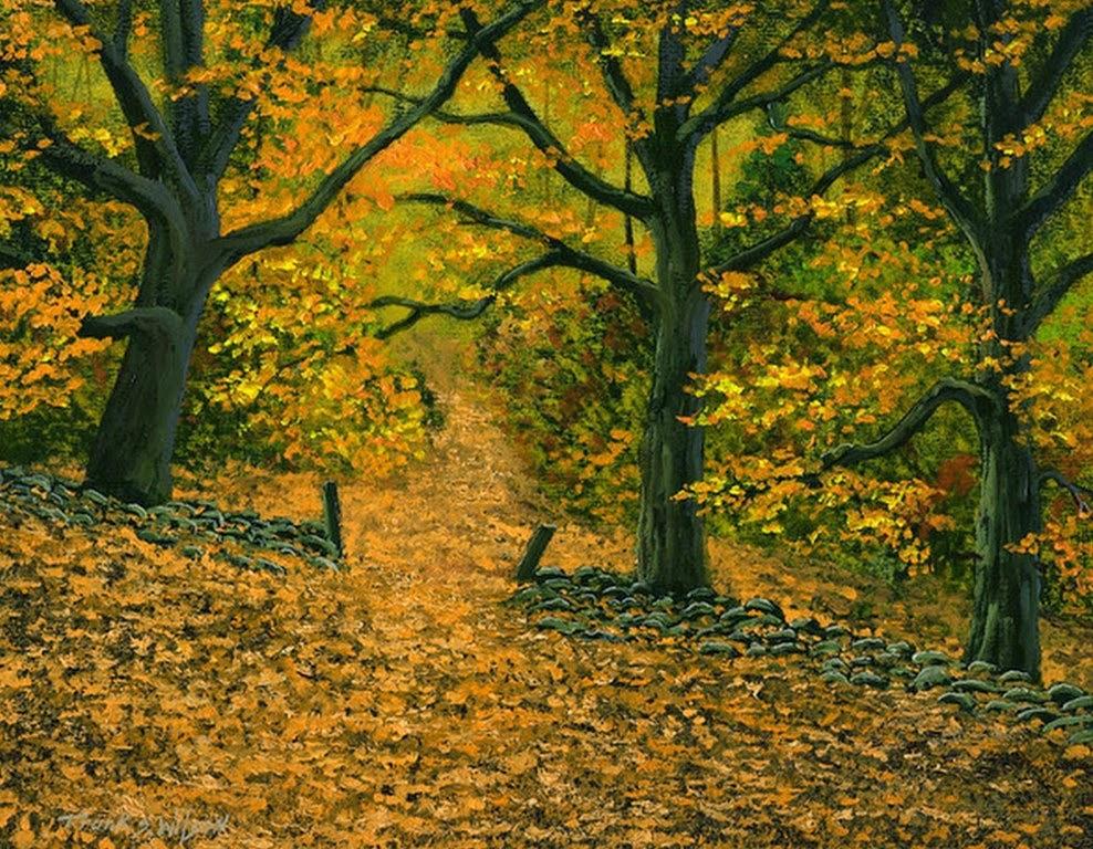 Im genes arte pinturas paisajes bosques del oto o obras - Imagenes paisajes otonales ...