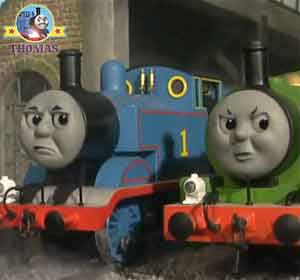 Thomas the tank engine and Percy the small green engine are cross Edward the train was a good friend