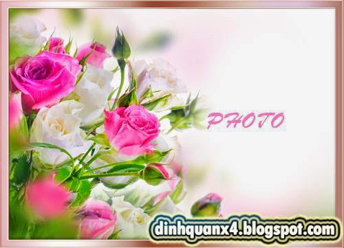 Frame for the photo - Gentle aroma of a rose