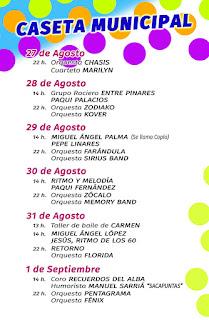 PROGRAMA DE LA CASETA MUNICIPAL  Feria de San Agustín 2015  LINARES