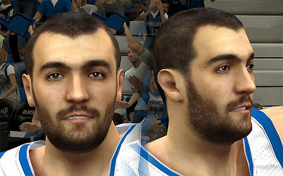 NBA 2K13 Nikola Peković Cyberface Patch
