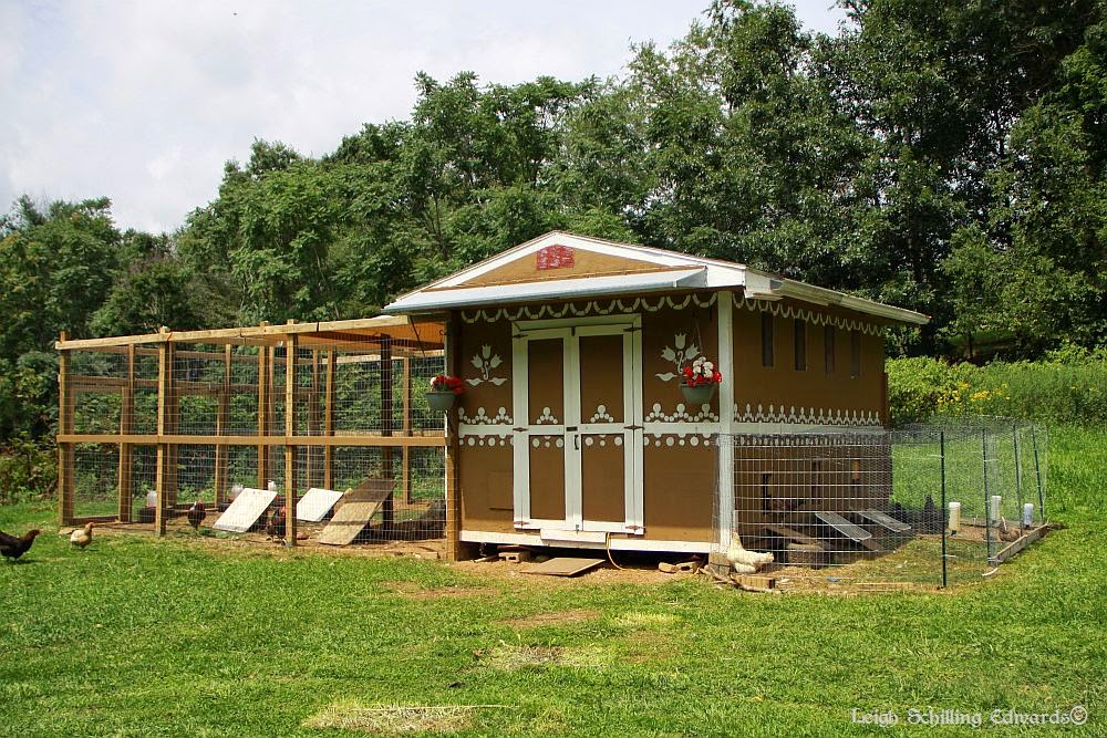 Natural chicken keeping my gingerbread house chicken coop for Old farm chicken coops
