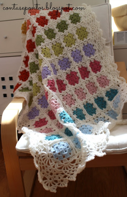 manta de bebé - crochet