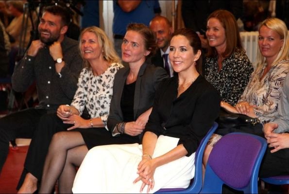 Crown Princess Mary Attended An Event At The Guldberg School
