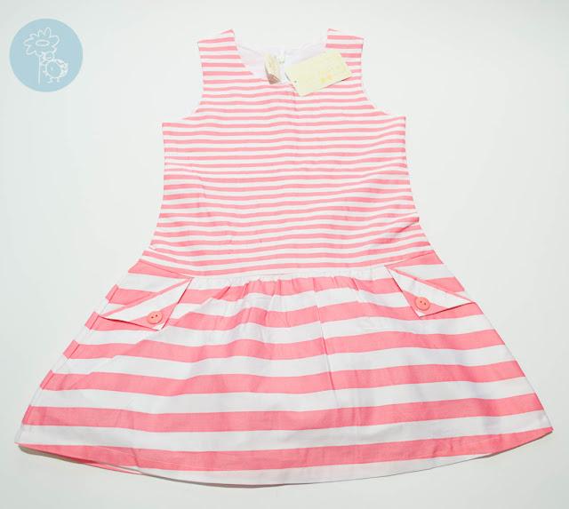 Vestido infantil rayas Bimbalina en Tienda y Blog moda infantil Retamal