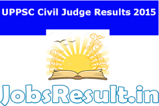 UPPSC Civil Judge Results 2015