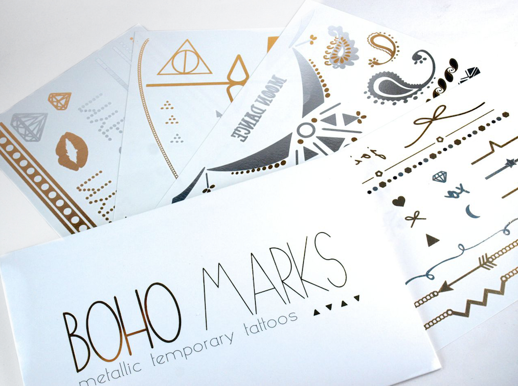 Balsam & Vine Boho Marks Metallic Temporary Tattoo: Review