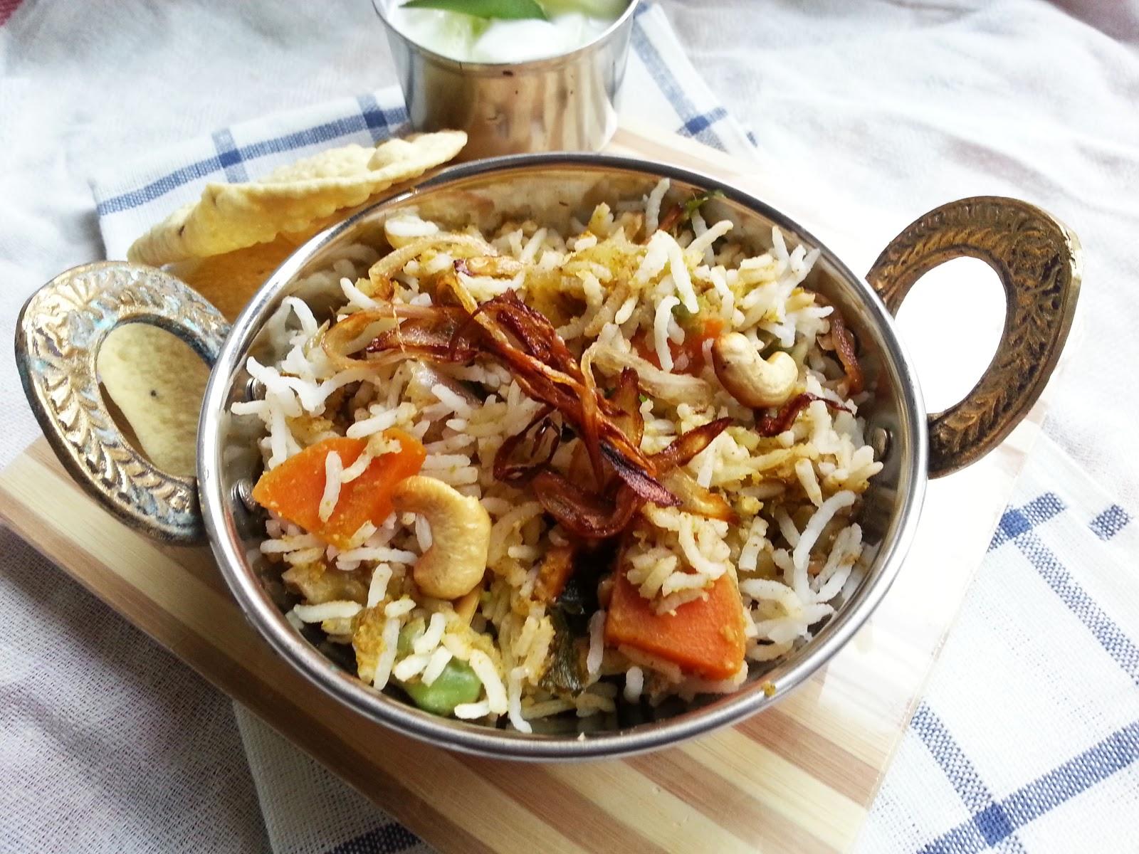 Shinies Kitchen Diary: Vegetable Biryani