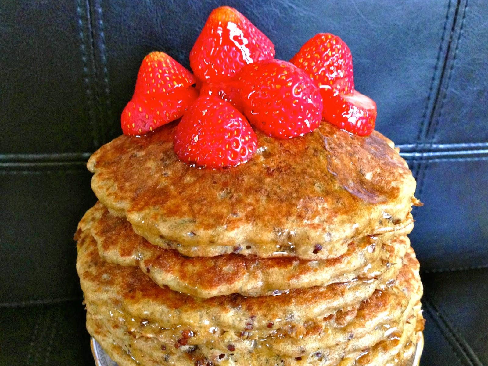 quinoa spelt pancakes