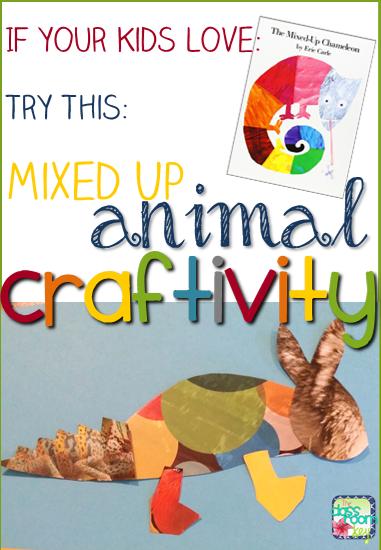 Classroom Freebies Too: Mixed Up Chameleon Craftivity