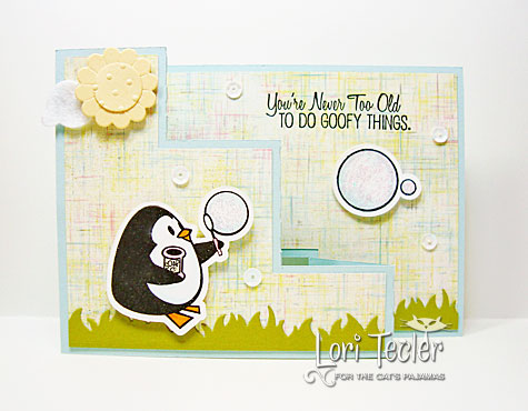 You're Never too Old to Do Goofy Things step out card-designed by Lori Tecler/Inking Aloud-stamps and dies from The Cat's Pajamas