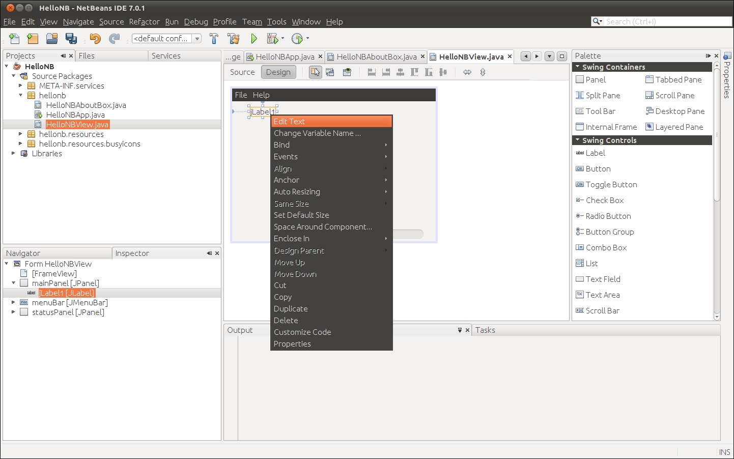 how to build a desktop application in java