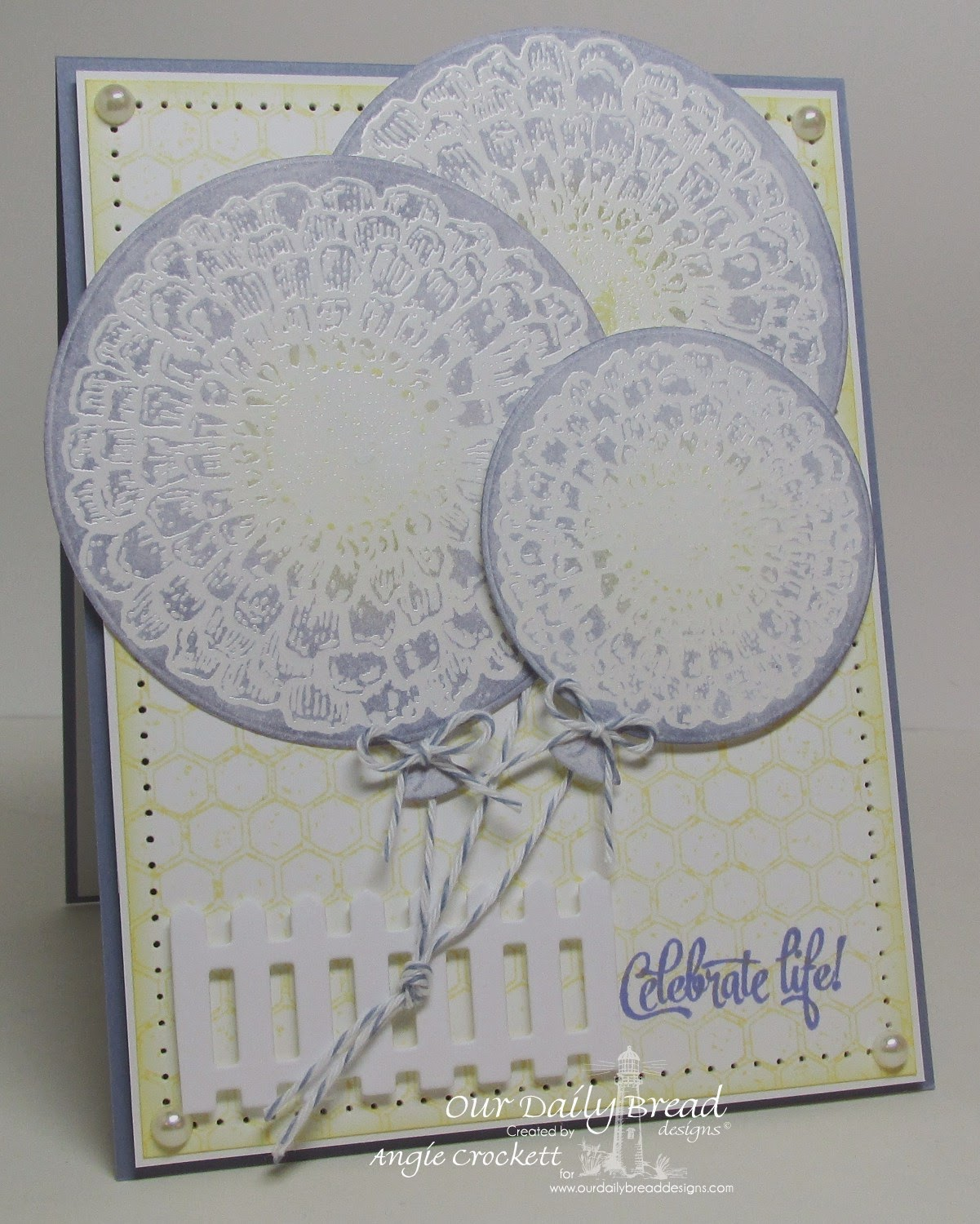 ODBD Sentiments Collection 3, Zinnia, Honeycomb Background, ODBD Fence Die, ODBD Circle Ornament Die Set, Card Designer Angie Crockett