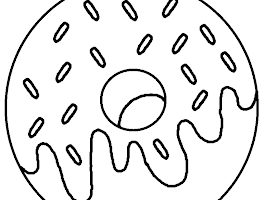 Donut With Sprinkles Coloring Pages