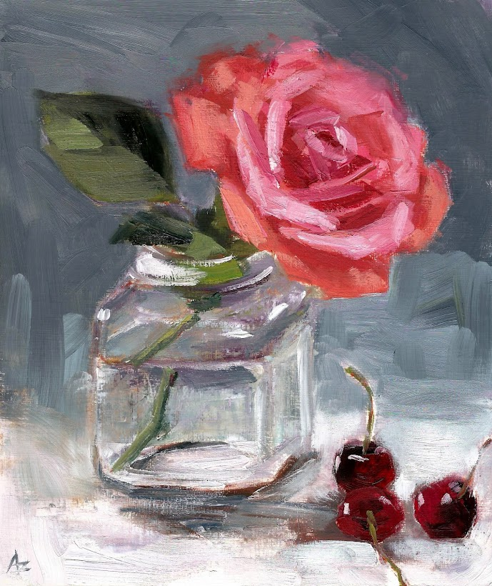 Rose and Cherries