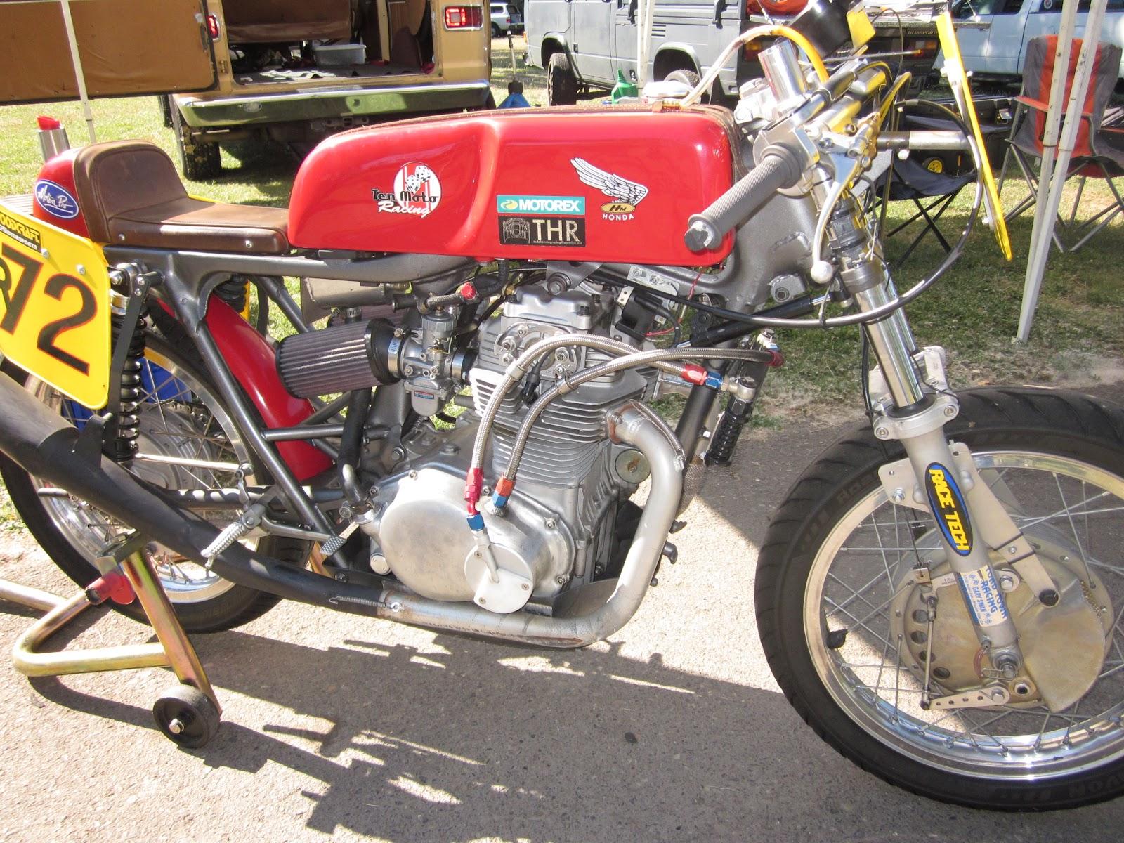 OldMotoDude  Honda CB350 Road Racer at OMRRA Vintage Daze