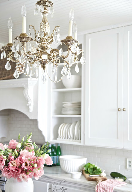 The great blackberry marble countertop debacle french for French country kitchen chandelier