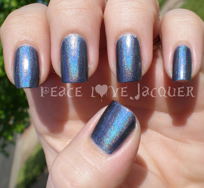 China Glaze, Hologlam, Strap on Your Moonboots, Blue, Holo