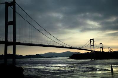 Inland Sea, Japan - Dawn over the Kurushima Bridge across the Seto Inland Sea