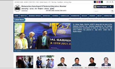 Official Website of MSBTE University @ www.msbte.com
