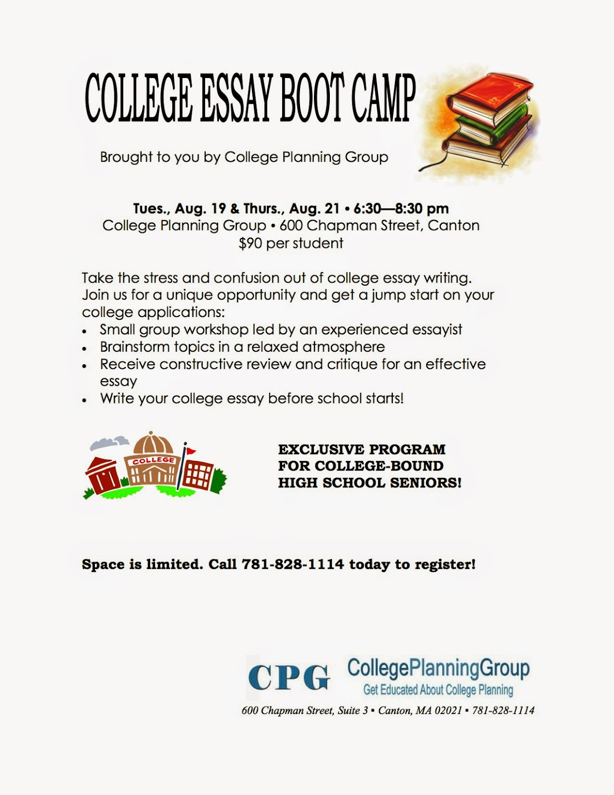 college essay boot camp paramus