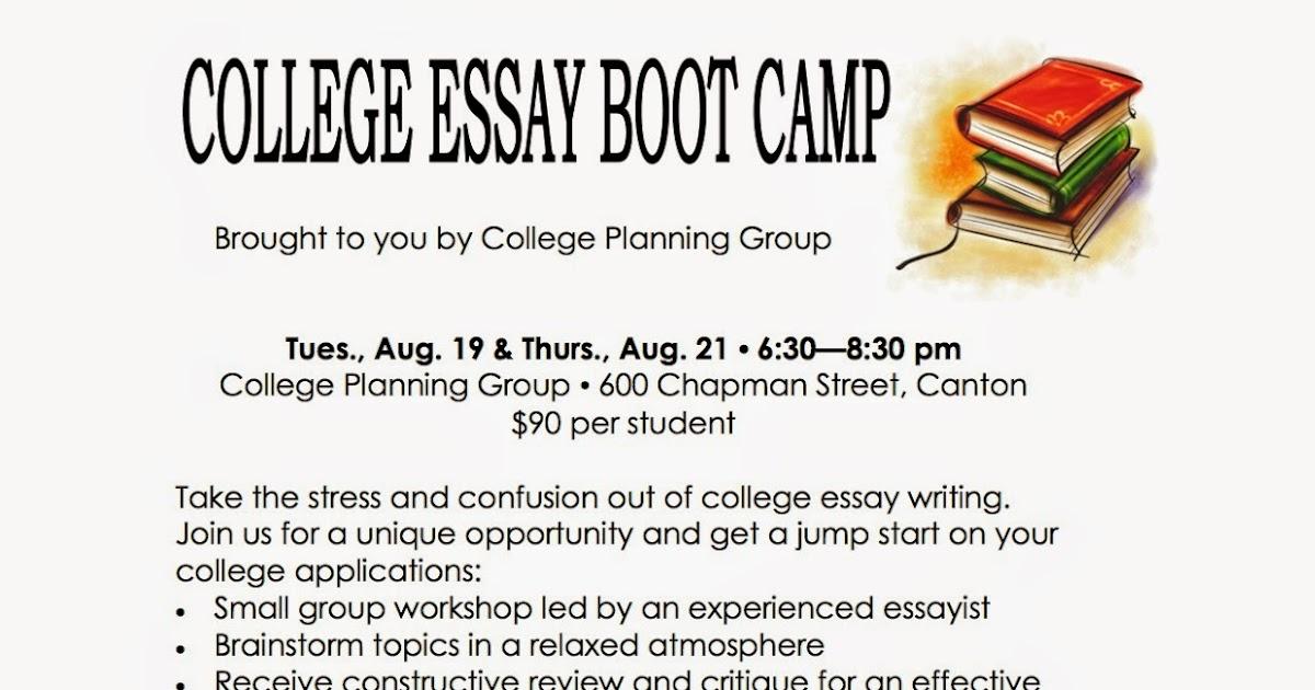college essay boot camp northeastern