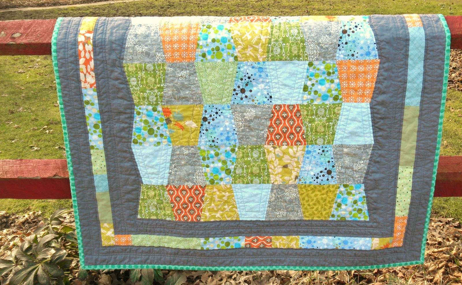 Baby Quilt Patterns Contemporary : modest creations by michelle: modern boy tumbler quilt