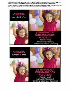 Tarjeta de invitación cumpleaños con foto